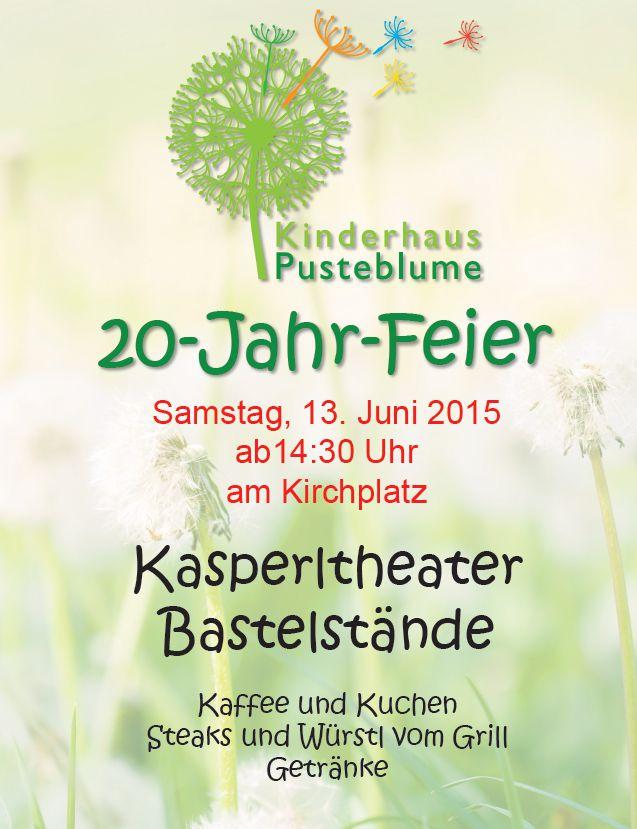20 Jahre Kinderhaus Pusteblume Feier in Allershausen